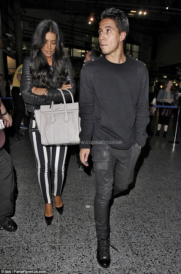 Nasri (right) with girlfriend Anara in 2013 arriving at the Manchester Arena for a concert. PHOTO/DM.