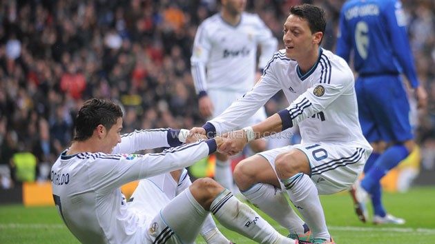 Ozil, who left Real for Arsenal in 2013, contributed many assists to Ronaldo's goal haul during the Germany international's three-year stint in Spain. PHOTO/ SKY