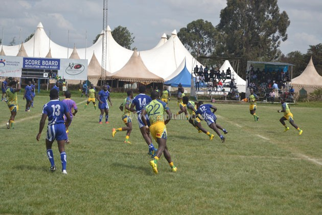 Homeboyz playing Strathmore Leos in a Kenya Cup match.PHOTO/Kenya Cup