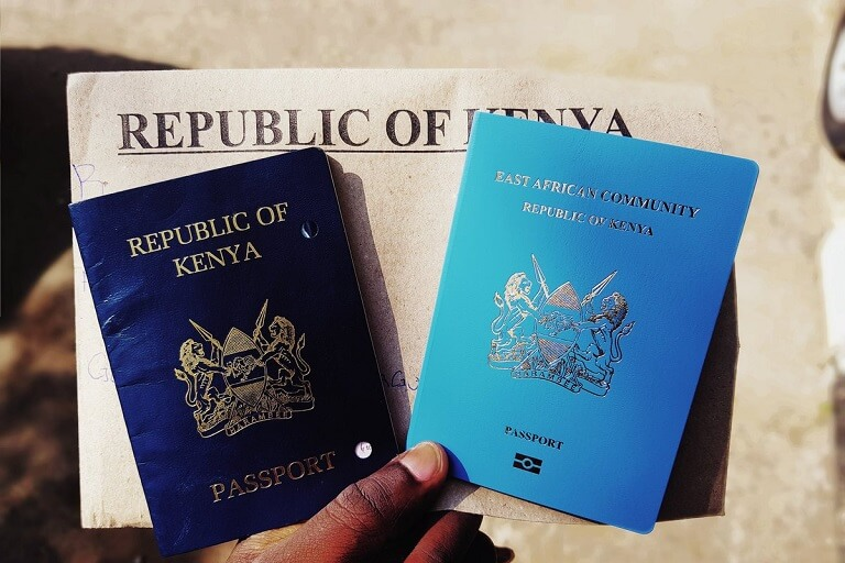 Old and new passport