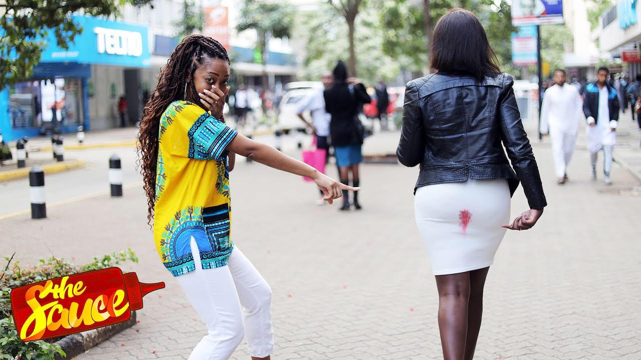 Social Experiment: Would Kenyans help a young woman who stained her dress?